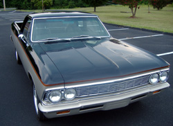 1966 chevy el camino partial restoration custom paint
