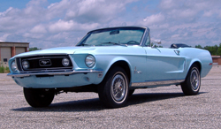 1968 ford mustang convertible partial restoration 289 blue with a white top