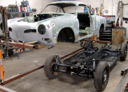 1972 VW Karmann Ghia rust repair and paint