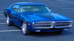 1973 dodge charger complete restoration b5 blue big block white interior